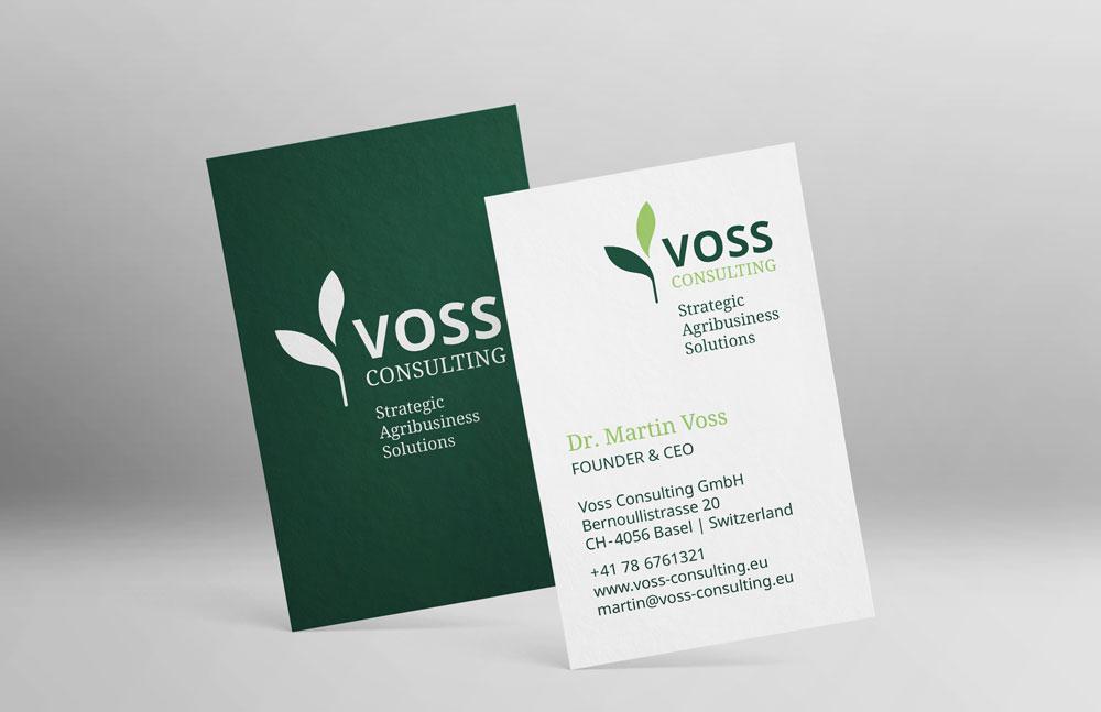 Voss Consulting Visitenkarte